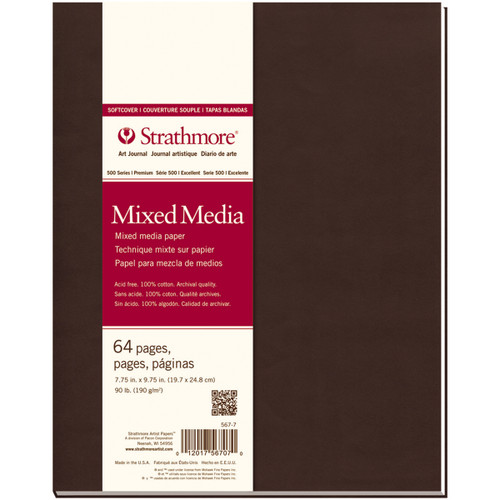 """Strathmore Mixed Media Softcover Journal 7.75""""X9.75""""-32 Sheets -62467700 - 012017567070"""