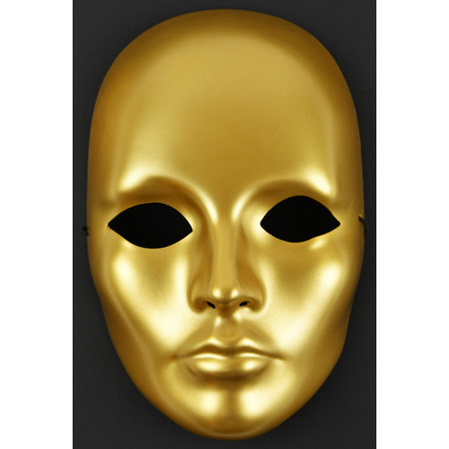 """Mask-It Full Female Face Form 8.5""""-Gold -MD71015"""