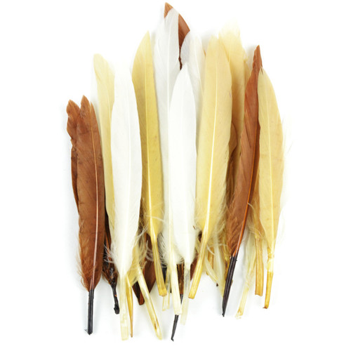 Duck Quill Feathers 24/Pkg-Earth Mix -MD38297