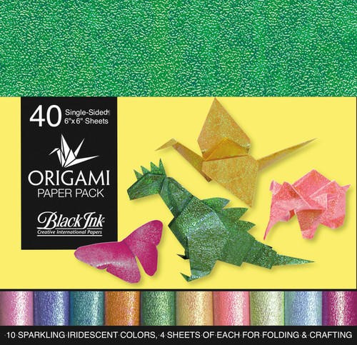 Origami Paper Pack-Iridescent 40 Sheets -OP-300 - 722559300010
