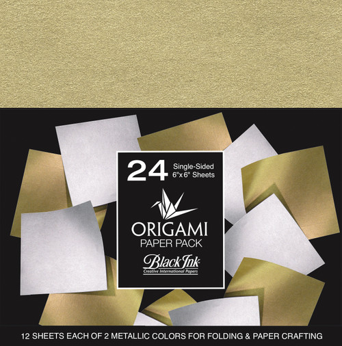 Origami Paper Pack-Metallic Mulberry 24 Sheets -OP-302 - 722559302014
