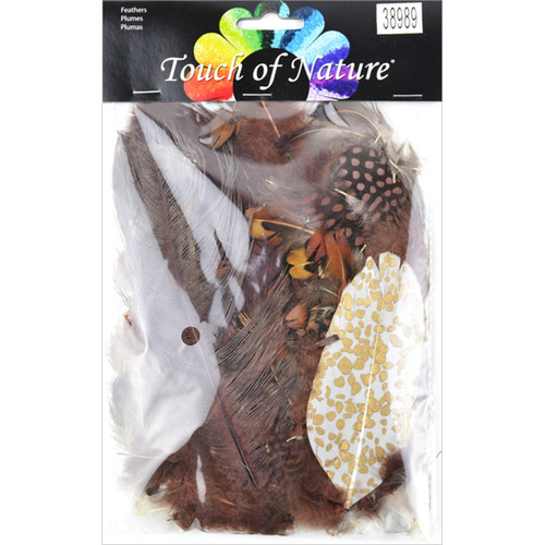 Packaged Feathers 7g-Chocolate, Natural & Sienna -MD38989 - 684653389899