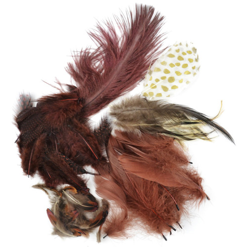 Packaged Feathers 7g-Chocolate, Natural & Sienna -MD38989
