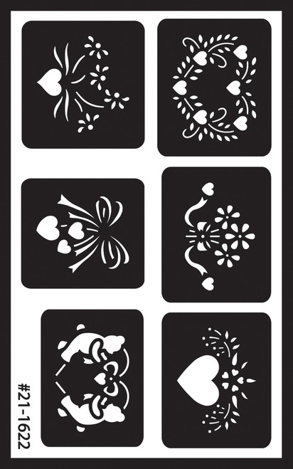 """Over 'N' Over Reusable Stencils 5""""X8""""-Assorted -GE21-1622 - 085593216229"""