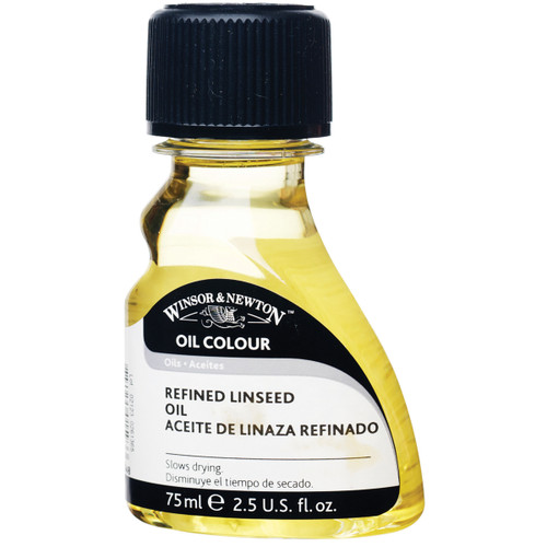 Winsor & Newton Refined Linseed Oil-75ml -3221748 - 884955015933