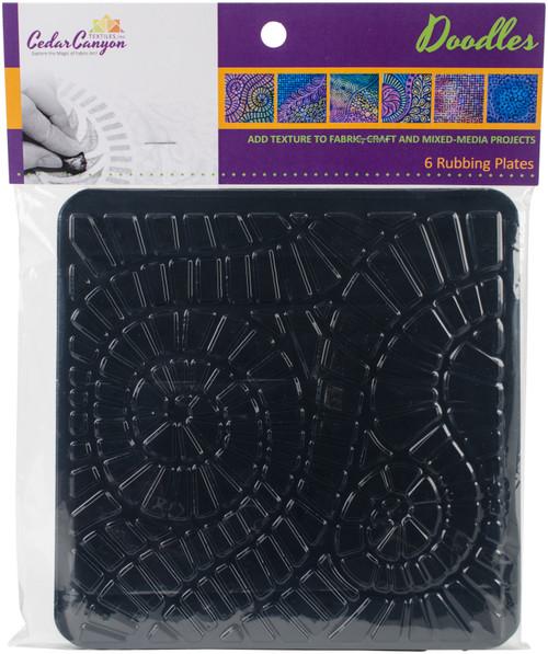 """Artist's Paintstiks Rubbing Plates 7.125""""X7.125"""" 6/Pkg-Doodles -CCT4007 - 893621001071"""