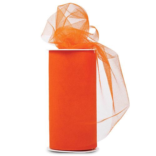 "Expo Shiny Tulle 6""X24yd Spool-Orange -TL2402-RNG - 730484691059"