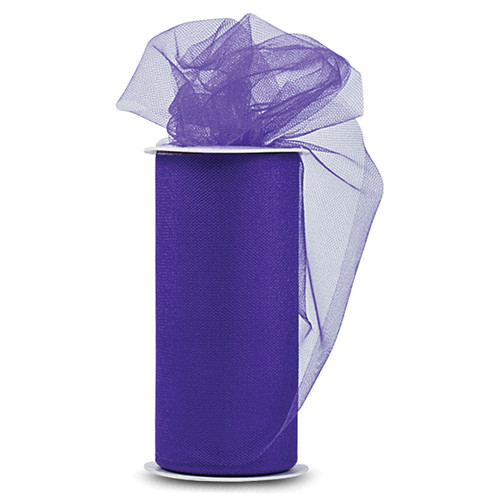 "Expo Shiny Tulle 6""X24yd Spool-Purple -TL2402-PR - 730484691028"