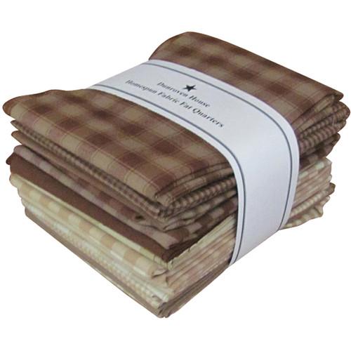 "Dunroven Homespun 18""X21"" Fat Quarters 12pcs-Brown & Natural -H100-900 - 875025000812"