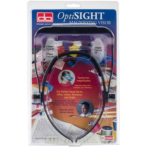 Donegan OptiSIGHT Magnifying Visor-Black -OSCBLACK - 633096001844