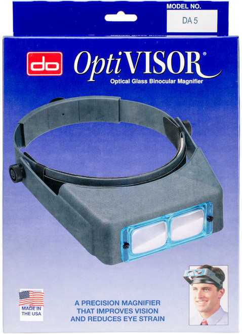 "Donegan Optical OptiVISOR Binocular Magnifier-Lensplate #5 Magnifies 2.5x At 8"" -DA-5 - 633096000502"