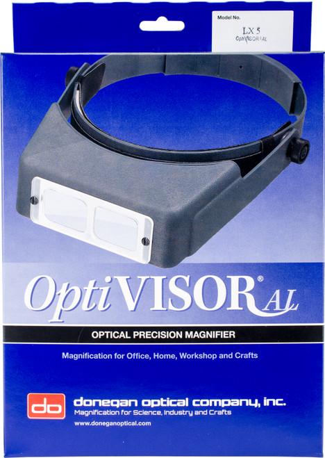 "Donegan OptiVISOR LX Binocular Magnifier-Lensplate #5 Magnifies 2.5x At 8"" -LX5 - 633096001516"