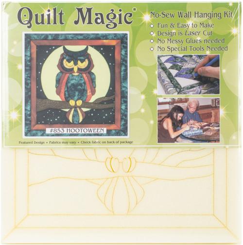 Quilt-Magic No Sew Wall Hanging Kit-Hootoween -QM853 - 724180008532