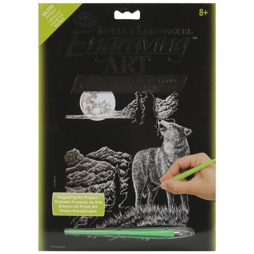 "Silver Foil Engraving Art Kit 8""X10""-Wolf Moon -SILVFL-33 - 090672068316"