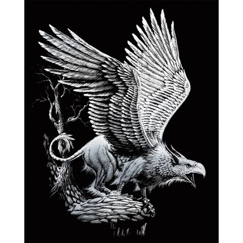 "Silver Foil Engraving Art Kit 8""X10""-Screaming Griffin -SILVFL-27"