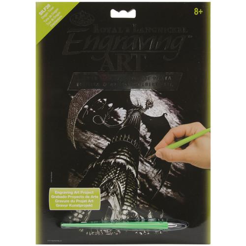 """Silver Foil Engraving Art Kit 8""""X10""""-Dragon Tower -SILVFL-26 - 090672066831"""