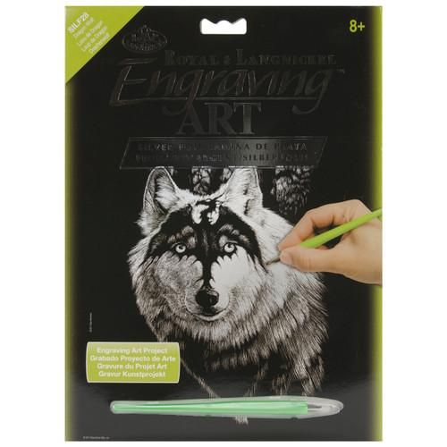 """Silver Foil Engraving Art Kit 8""""X10""""-Dragon Wolf -SILVFL-28 - 090672066855"""
