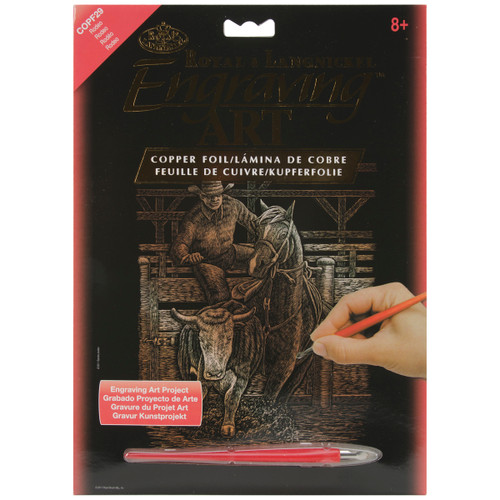 """Copper Foil Engraving Art Kit 8""""X10""""-Rodeo -COPRFL-29 - 090672068330"""