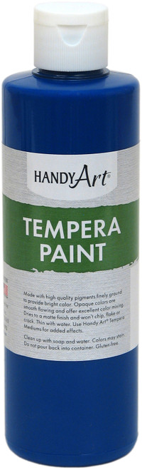 Handy Art Tempera Paint 8oz-Blue -206-030 - 075176104548