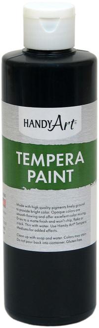 Handy Art Tempera Paint 8oz-Black -206-055 - 075176104746