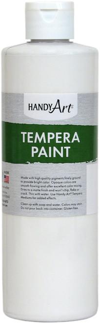 Handy Art Tempera Paint 16oz-White -201-005 - 075176104319