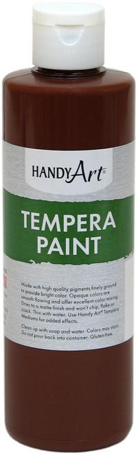 Handy Art Tempera Paint 8oz-Brown -206-050 - 075176104708