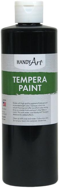 Handy Art Tempera Paint 16oz-Black -201-055 - 075176104753