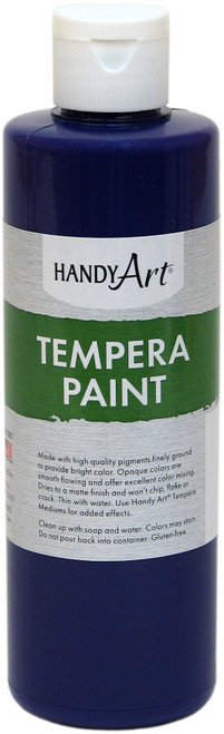 Handy Art Tempera Paint 8oz-Violet -206-040 - 075176104623