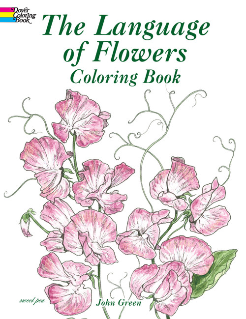 Dover Publications-The Language Of Flowers Coloring Book -DOV-43035 - 8007594303529780486430355