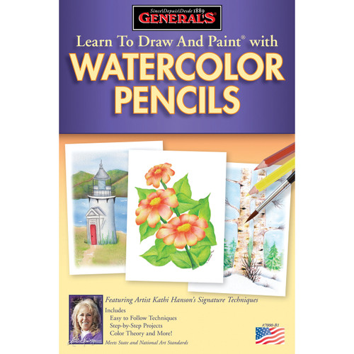 Learn To Draw And Paint With Watercolor Pencils-70WCB - 044974700023