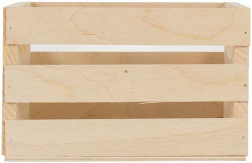 """Walnut Hollow Mini Wooden Crate W/Handles-6.5""""X5.3""""X4.25"""" -23873 - 046308238738"""