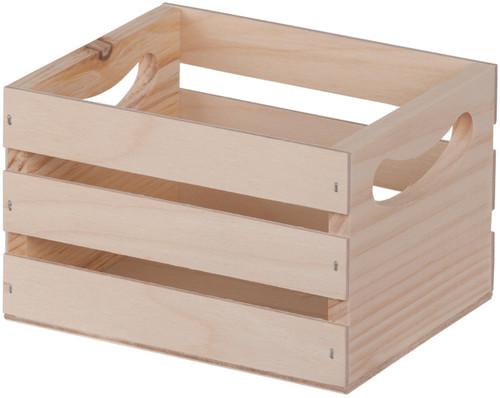 """Walnut Hollow Mini Wooden Crate W/Handles-6.5""""X5.3""""X4.25"""" -23873"""