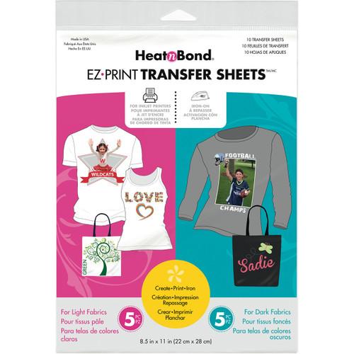 "HeatnBond EZ Print Transfer Sheet Combo-8.5""X11"" 10/Pkg -3369 - 000943033691"