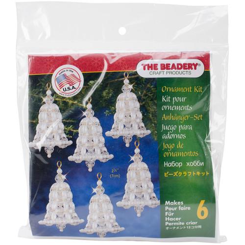"Holiday Beaded Ornament Kit-Crystal & Pearl Bells 2.75"" Makes 6 -BOK-7283 - 045155886871"