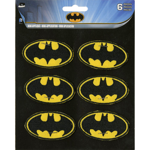 "C&D Visionary DC Comics Patch-Batman Insignia 6/Pkg 2"" -P-DC6-108 - 644256275203"
