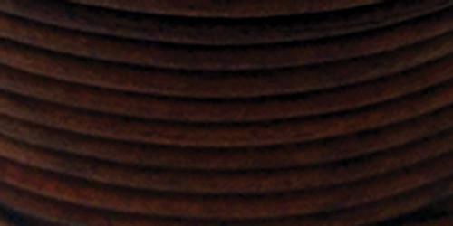 Realeather Crafts Round Leather Lace 2mmX25yd Spool-Cedar -RL2520-0409
