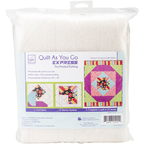 June Tailor Express Printed Quilt Blocks On Batting-Square In A Square -JT1414 - 730976014144