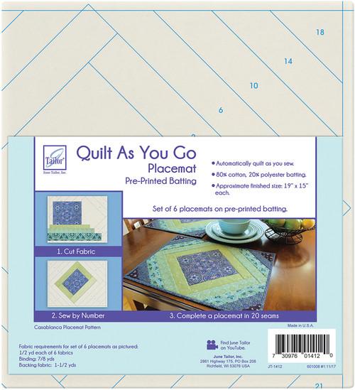 June Tailor Quilt As You Go Placemat 6/Pkg-Casablanca -JT1412 - 730976014120