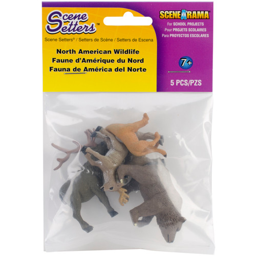 Scene Setters(R) Figurines-North American Wildlife 5/Pkg -SP4449 - 724771044499