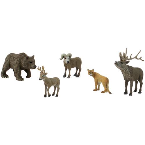 Scene Setters(R) Figurines-North American Wildlife 5/Pkg -SP4449