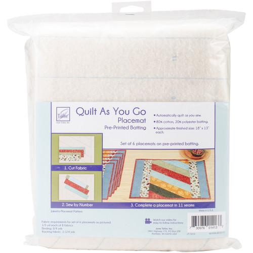 June Tailor Quilt As You Go Placemat 6/Pkg-Jakarta -JT1413 - 730976014137