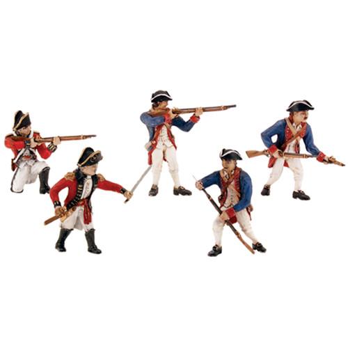 Scene Setters(R) Figurines-Revolutionary War Soldiers 5/Pkg -SP4454