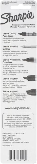 Sharpie Mean Streak Broad Tip Marking Stick Carded-White -85118PP