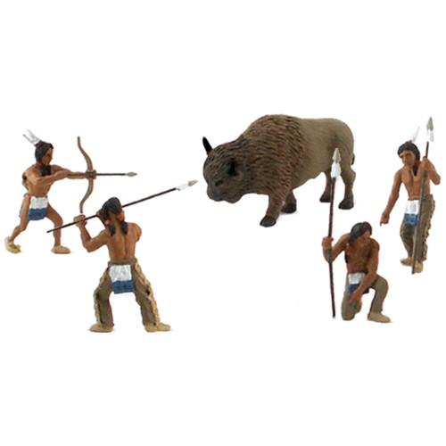 Scene Setters(R) Figurines-Native American Hunt 5/Pkg -SP4444