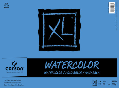 """Canson XL Watercolor Paper Pad 11""""X15""""-30 Sheets -7022446 - 0306741708533148955726280"""