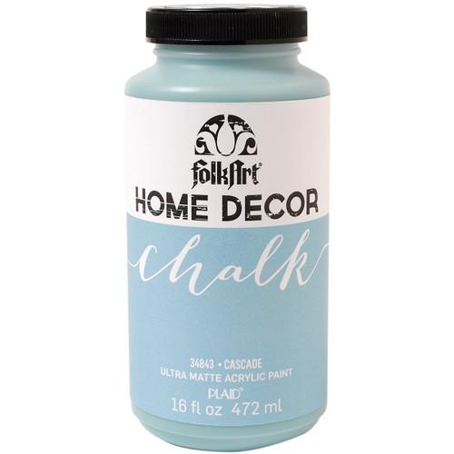 Folkart Home Decor Chalk Paint 16oz-Cascade -HDCHLK16-34843 - 028995348433
