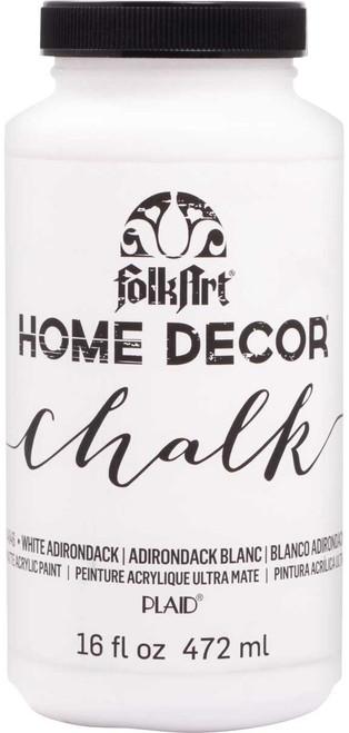 Folkart Home Decor Chalk Paint 16oz-White Adirondack -HDCHLK16-34846 - 028995348464