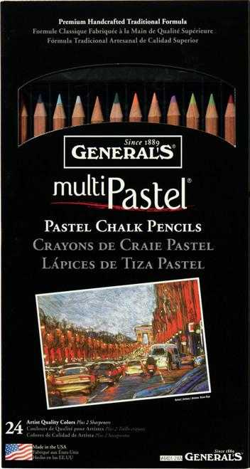 MultiPastel Pencils 24/Pkg-Assorted Colors -4401-24A - 044974400244