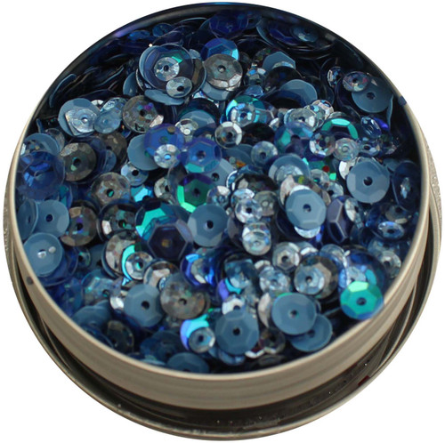 28 Lilac Lane Tin W/Sequins 40g-Denim Blues -LL306