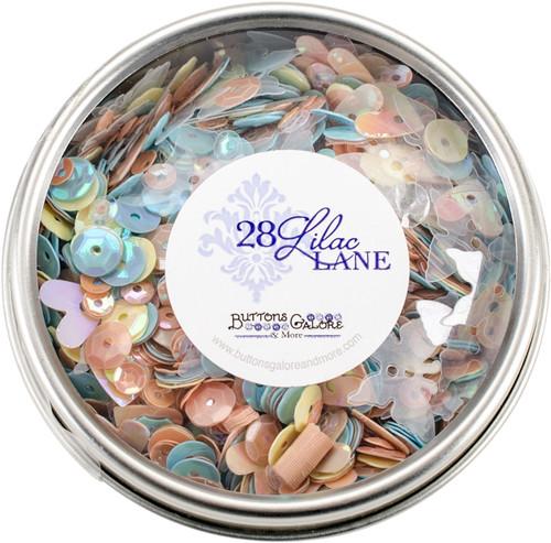 28 Lilac Lane Tin W/Sequins 40g-Spring Butterflies -LL307 - 840934000666